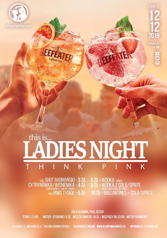 THIS IS LADIES NIGHT  - THINK PINK