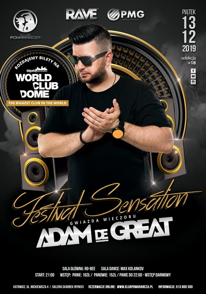 FESTIVAL SENSATION - ADAM DE GREAT