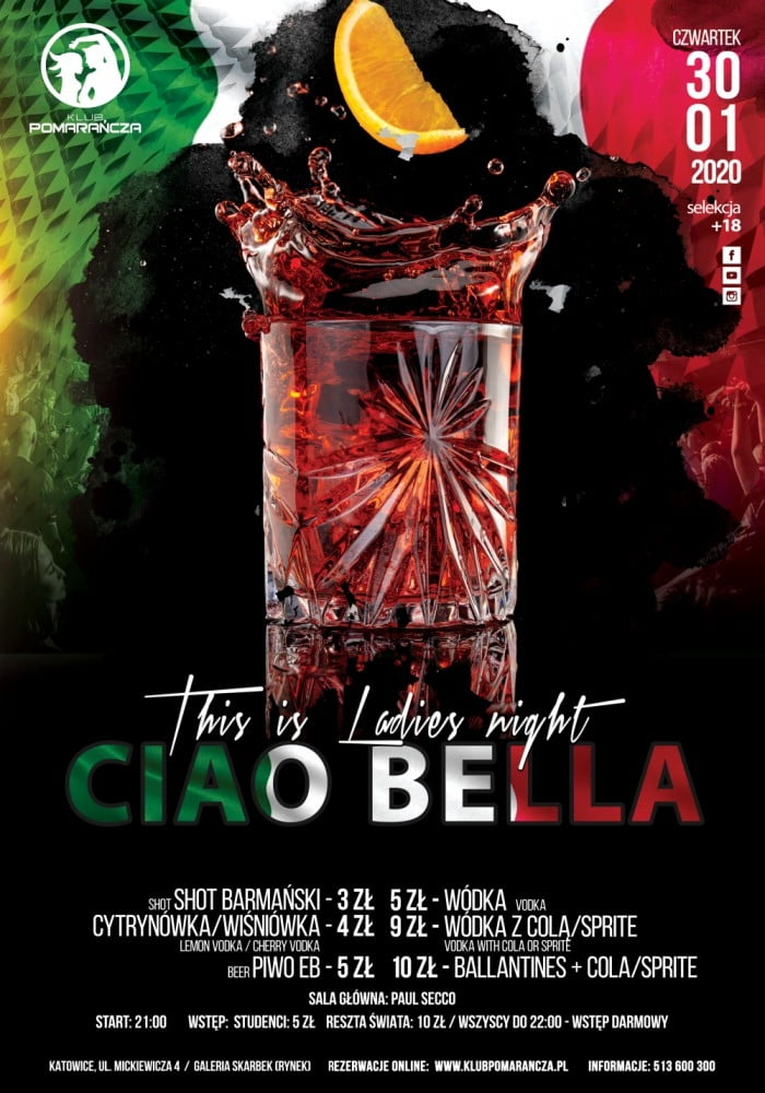 THIS IS LADIES NIGHT - CIAO BELLA